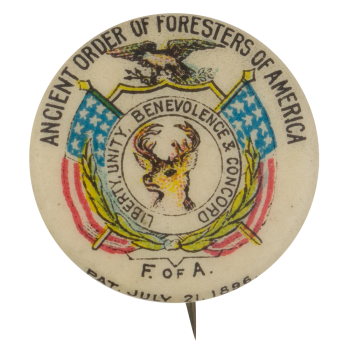 Ancient Order of Foresters of America Club Button Museum