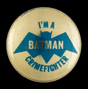 Batman Crimefighter Club Entertainment Button Museum