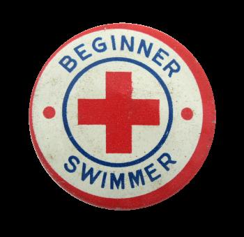 Beginner Swimmer Club Button Museum