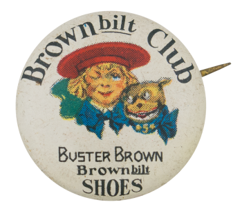 Buster Brown Bilt Club Club Button Museum