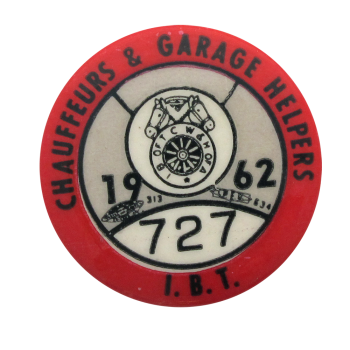 Chauffeurs and Garage Helpers 1962 Club Button Museum