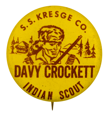 Davy Crockett Indian Scout Club Busy Beaver Button Museum
