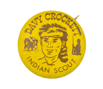 Davy Crockett Indian Scout Club Button Museum