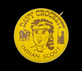 Davy Crockett Indian Scout Club Button Museum