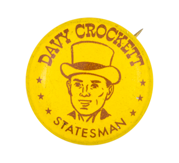 Davy Crockett Statesman Club Button Museum