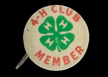 4-H Club Member Club Button Museum
