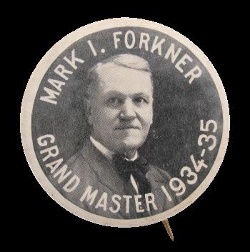 Mason's Grandmaster Mark I. Forkner Club Button Museum