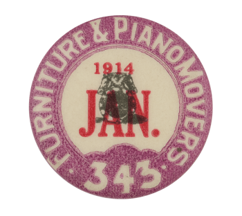 Furniture & Piano Movers Club Button Museum