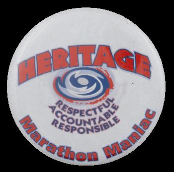 Heritage Marathon Maniac Club Busy Beaver Button Museum