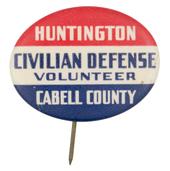 Huntington Civillian Defense  Club Button Museum