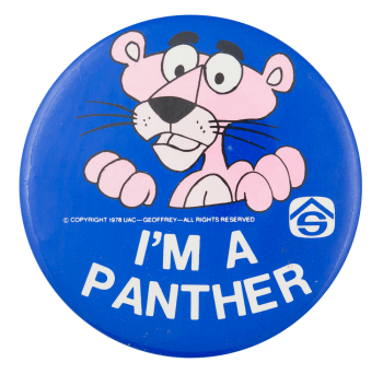 I'm a Panther Club Button Museum