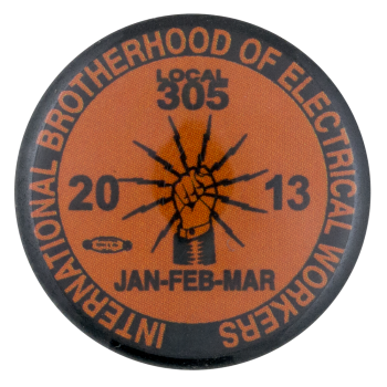 International Brotherhood of Electrical Workers Club Button Museum