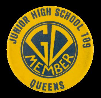 Junior High School 109 GO Member Club Button Museum