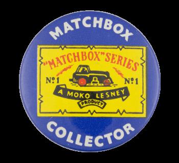 Matchbox Collector Blue Club Button Museum