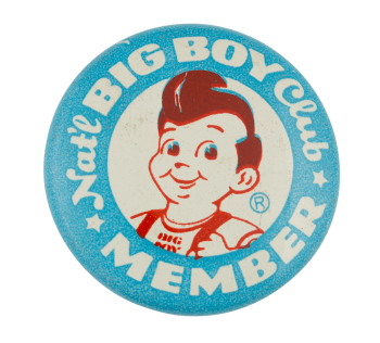 National Big Boy Club Member Club Button Museum