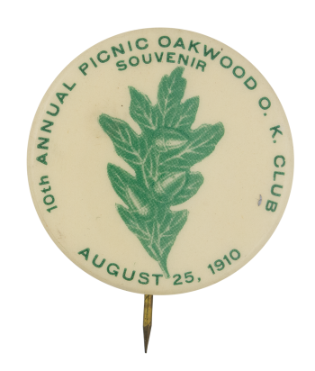 10th Annual Picnic Oakwood O.K. Club Club Button Museum