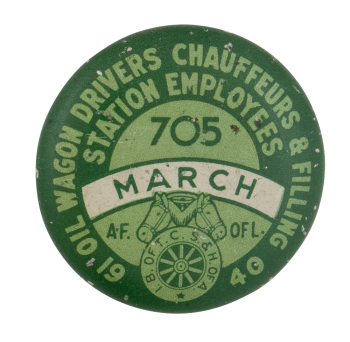 Oil Wagon Drivers Chauffeurs & Filling Club Button Museum