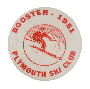 Plymouth Ski Club Club Button Museum