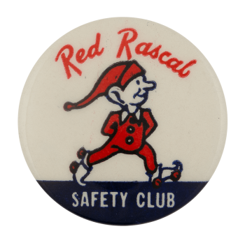 Red Rascal Safety Club Club Busy Beaver Button Museum