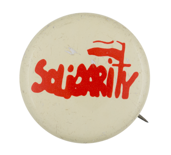 Solidarity Polish Labor Union English Club Button Museum