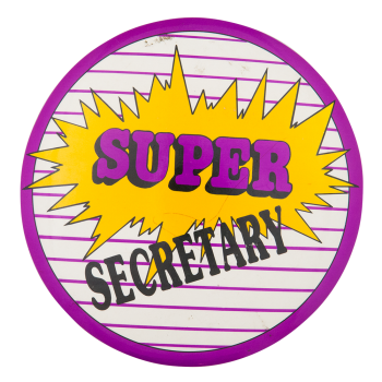 Super Secretary Club Button Museum
