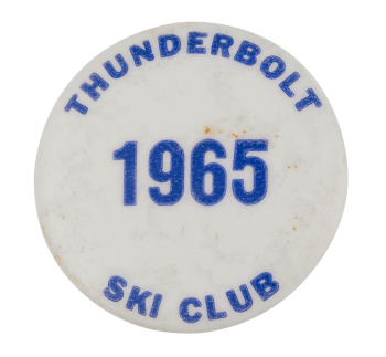 Thunderbolt Ski Club Club Button Museum