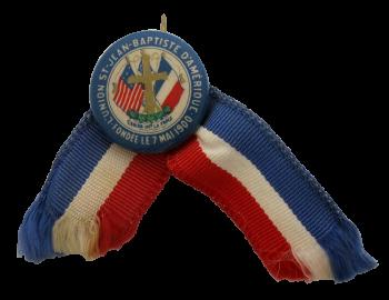 Union Saint Jean Baptiste d'Amérique club button museum