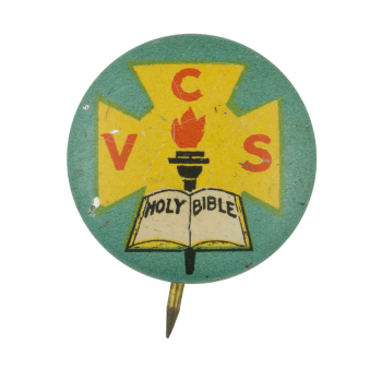 Vacation Church School Holy Bible Club Button Museum