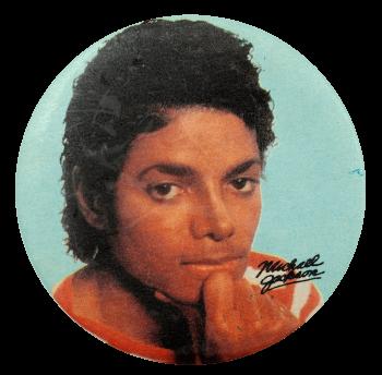 Michael Jackson Blue Entertainment Busy Beaver Button Museum