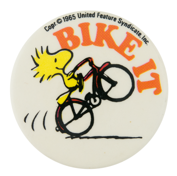 Woodstock Bike It Entertainment Button Museum