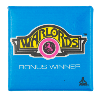 Atari Warlords Entertainment Button Museum
