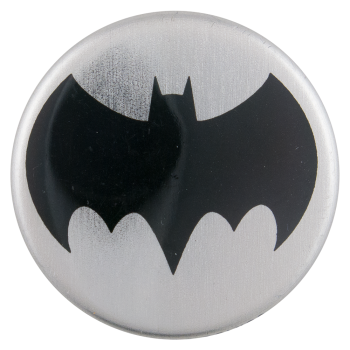 Batman Silver Entertainment Button Museum