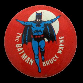 The Batman Bruce Wayne Entertainment Button Museum