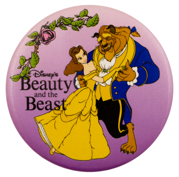 Beauty and the Beast Floral Entertainment Busy Beaver Button Museum