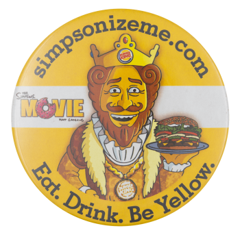 Burger King Simpsonizeme Entertainment Button Museum