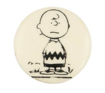 Charlie Brown Black and White Entertainment Button Museum