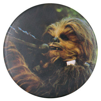 Chewbacca Star Wars Entertainment Button Museum