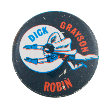 Dick Grayson Robin Entertainment Button Museum