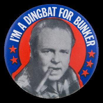 Dingbat For Bunker Entertainment Button Museum