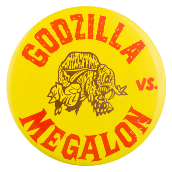 Godzilla vs Megalon Entertainment Button Museum