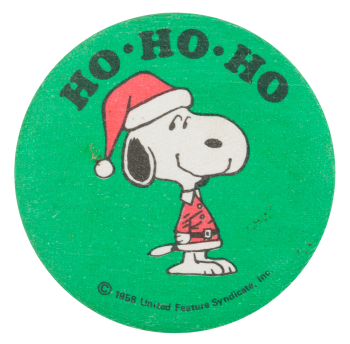 Ho Ho Ho Snoopy Entertainment Button Museum