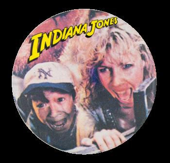 Indiana Jones Willie Scott and Short Round Entertainment Button Museum