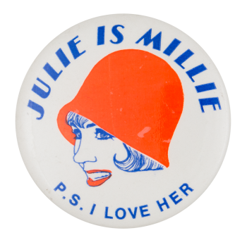 Julie is Millie Entertainment Button Museum