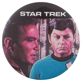 Kirk and Dr McCoy Star Trek Entertainment Button Museum