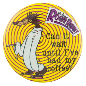 Psycho Weasel Who Framed Roger Rabbit Entertainment Busy Beaver Button Museum