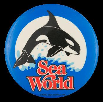 Sea World Shamu Entertainment Button Museum