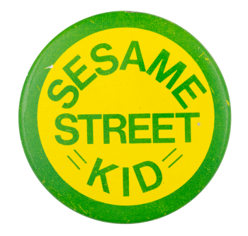 Sesame Street Kid Entertainment Button Museum