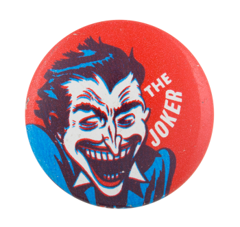 The Joker In Blue Shirt Entertainment Button Museum