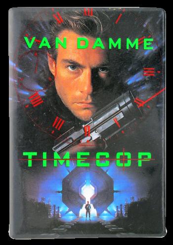 Jean-Claude Van Damme Timecop Entertainment Button Museum
