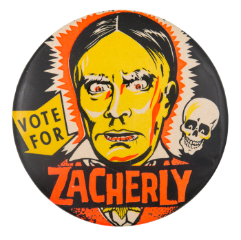 Vote for Zacherly Entertainment Button Museum